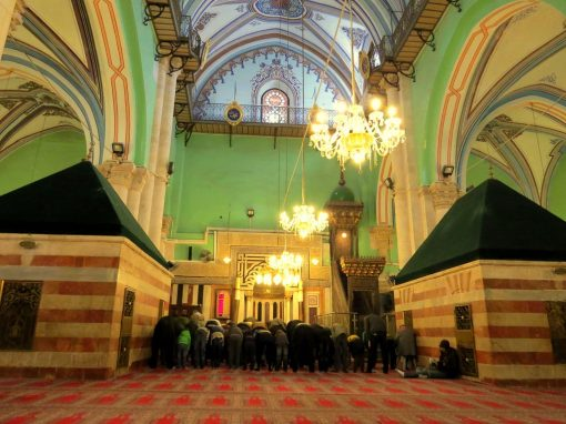 Inside the Ibrahimi Mosque in Hebron