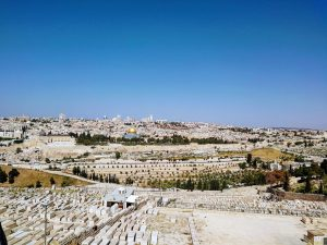 Panorama view over Jerusalem