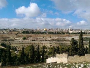 Panorama view of Jerusalem Old City