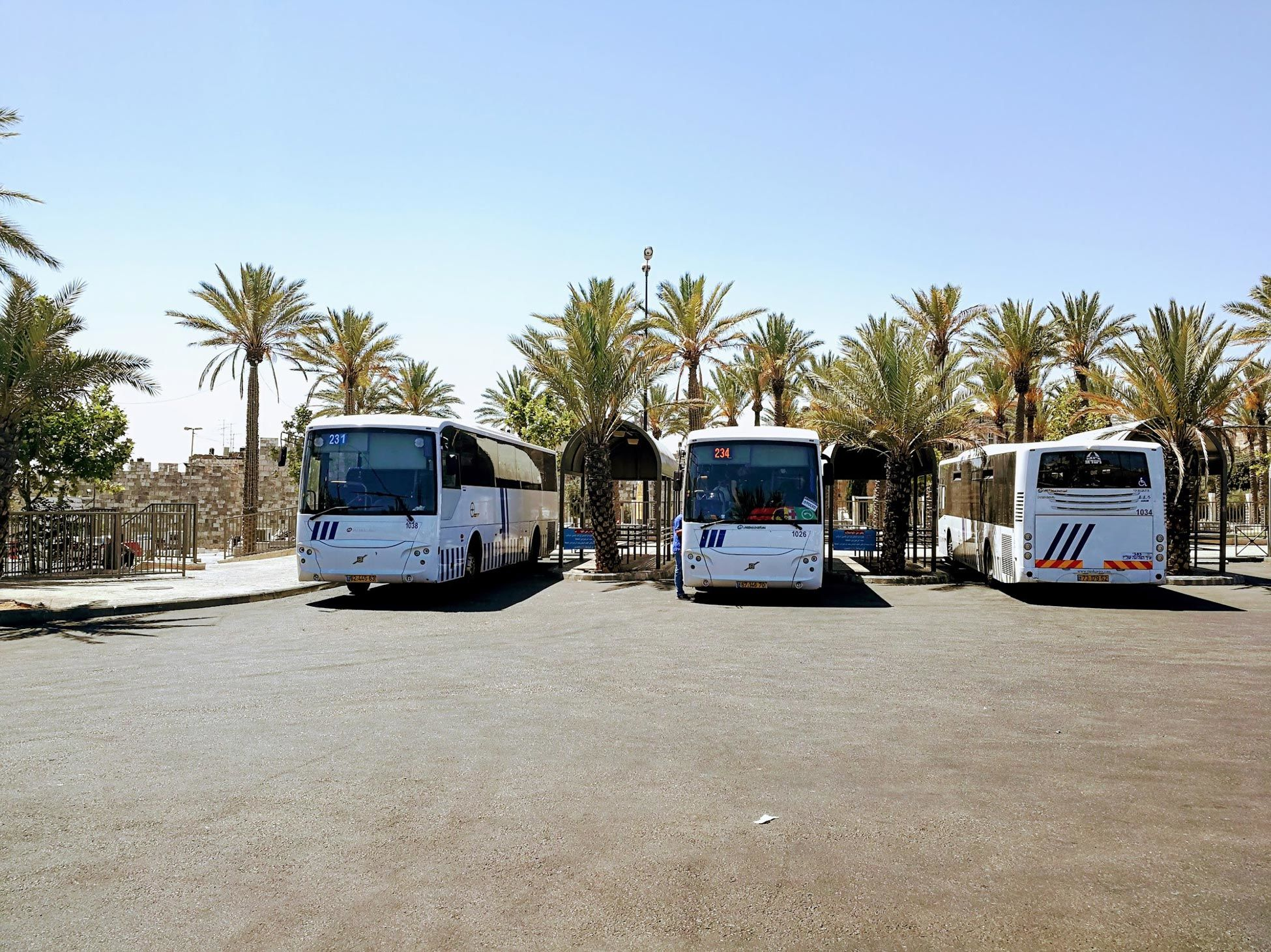 Arab Bus Station in Damascus Gate in Jerusalem