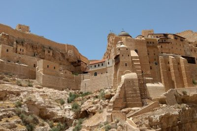 Mar Saba Monastery view from outside
